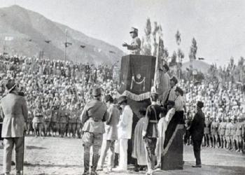 غازي امان الله خان په ۱۳۰۴هجري شمسي کال کې د ازادۍ ورځ لمانځي