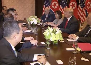 د شمالي کوریا او امریکا مشران